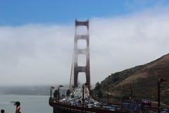 строб моста золотистый Стоковые Изображения