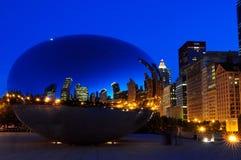 строб облака chicago стоковая фотография