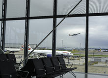 Строб отклонения на авиапорте Хитроу Стоковые Изображения RF