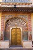 Строб лотоса в Pitam Niwas Chowk, дворце города Джайпура, Раджастхан, Стоковое Изображение