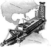 Строб Панамского Канала бесплатная иллюстрация