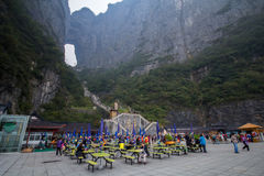 Строб рая на небесной горе Горы Zhangjiajie Провинция Хунани Китай Стоковое фото RF