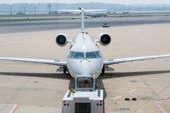 строб самолета уходя Стоковая Фотография