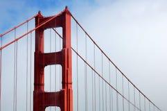 строб тумана моста золотистый Стоковые Изображения RF