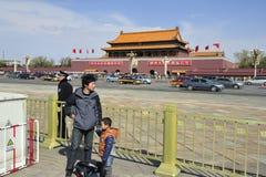 Строб Тяньаньмэня, Forbidden City Стоковое Изображение