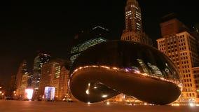 Строб фасоли или облака на ноче в Чикаго стоковые фото