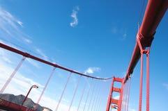 строб части моста золотистый Стоковые Фото