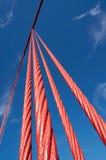 строб части моста золотистый Стоковая Фотография