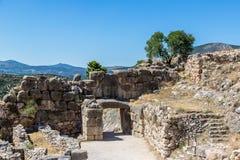 Строб льва в Mycenae, Греции стоковое фото