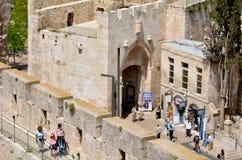 Строб Яффы в старом городе Иерусалима - Израиля Стоковое Фото