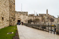 Строб Яффы, старый город Иерусалима, Израиля Стоковые Изображения RF