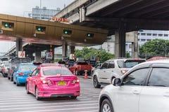 Строб для оплаты гонорара скоростной дороги в Бангкоке EXAT Стоковая Фотография RF