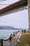 строб 10 мостов золотистый Стоковые Фото
