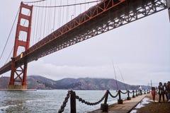 строб 7 мостов золотистый Стоковое фото RF