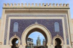 Строб Bab Bou Jeloud в Fez стоковые фото