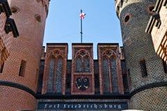 Строб Friedrichsburg - немецкий форт в Koenigsberg. Калининград (до Koenigsberg 1946), Россия Стоковая Фотография