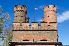 Строб Friedrichsburg - старый немецкий форт в Koenigsberg. Калининград (до Koenigsberg 1946), Россия Стоковая Фотография