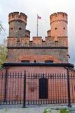Строб Friedrichsburg - старый немецкий форт в Koenigsberg. Калининград, (до Koenigsberg 1946), Россия Стоковая Фотография