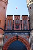 Строб Friedrichsburg - старый немецкий форт. Калининград (до Koenigsberg 1946), Россия Стоковая Фотография