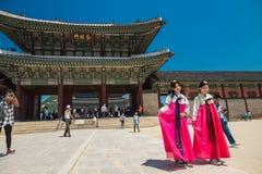 Строб Geunjeongmun в дворце Gyeongbokgung в Южной Корее Сеула Стоковое Изображение