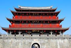 Строб Guangji, здания наследия с стилем традиционного китайския и местные характеристики стоковое изображение rf