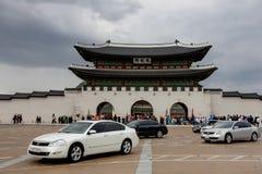 Строб Gwanghwamun дворца Gyeongbokgung в Южной Корее Сеула Стоковые Изображения RF