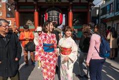 Строб Kaminarimon (грома) виска Sensoji, токио Стоковое Фото