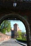 строб krakow Польша замока к wawel Стоковое Изображение