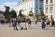 Строб Matthias, на квадрате Hradcany, Прага Стоковые Фотографии RF