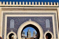 Строб Medina в Fez, Марокко Стоковое Фото