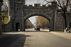 Строб Porte Dauphine, ` Youville места d, Квебек (город) Стоковое фото RF
