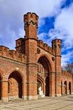 Строб Rossgarten - форт Koenigsberg. Калининград (до Koenigsberg 1946), Россия Стоковое Изображение