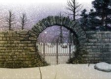 Строб ` s леса снега фантазии Стоковое Фото
