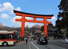 Строб Torii к святыне Hakone Стоковое фото RF