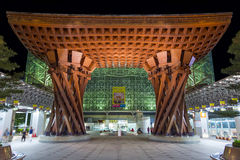 Строб Tsuzumi-понедельника на станции Kanazawa МЛАДШЕГО, Японии Стоковое фото RF