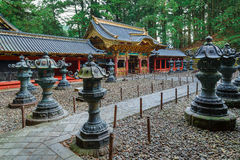 Строб Yashamon на святыне Taiyuinbyo в Nikko, Японии Стоковое Фото