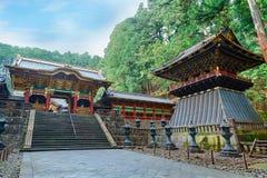 Строб Yashamon на святыне Taiyuinbyo в Nikko, Японии Стоковые Фотографии RF