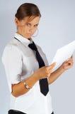 строгая секретарша Стоковое фото RF