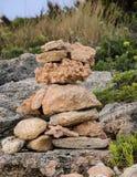 Строение вверх по камням Стоковая Фотография