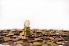 Строение символа евро от монеток Стоковые Изображения RF