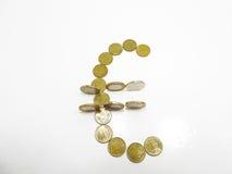 Строение символа евро от монеток Стоковые Изображения