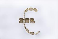 Строение символа евро от монеток Стоковое фото RF