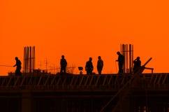 строители Стоковая Фотография