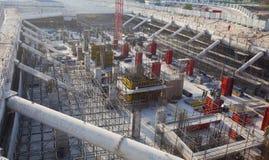 строительная площадка для учреждения большого построения, Дубай стоковая фотография
