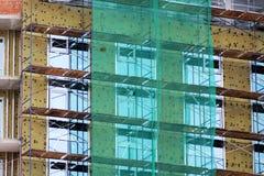 Строительная площадка дома кирпича Дом кирпича строительной конструкции Незаконченная домашняя конструкция Стоковое Фото