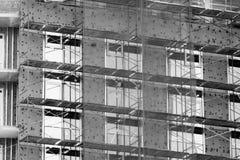Строительная площадка дома кирпича Дом кирпича строительной конструкции Незаконченная домашняя конструкция Стоковые Изображения