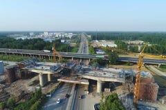 Строительная площадка Китая высокоскоростная железнодорожная иллюстрация вектора