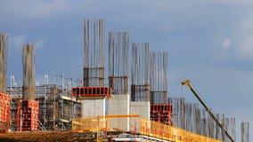 Строительная площадка портового района Белграда Стоковая Фотография RF