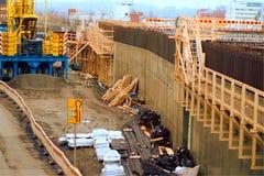 Строительная площадка проекта палубы и арены Тампере стоковые фотографии rf