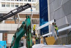 Строительная площадка Сингапур работы работников Стоковые Фото
